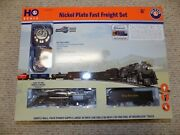 Lionel Nickel Plate Fast Freight Set 1951010 Ho Scale Extra Track 10 Opened
