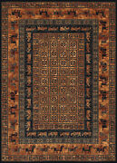 Couristan Old World Classics 7and03910x11and0392 Rectangle Area Rugs In Burnished Rust