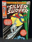 Silver Surfer 14, Spider-man Appearance 1970 Bottom Staple Popped,grease Pencil