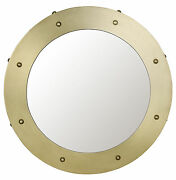 Noir Metal Small Mirror With Antique Brass Finish Gmir139mb-s