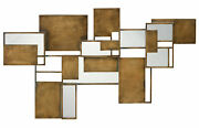 Jamie Young Optic Wall Art Mirror In Antique Brass 7opti-waab