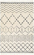 Surya Meknes 8and039 X 10and039 Rectangle Area Rugs With Cream And Charcoal Mek1002-810