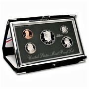 1998 U.s. Premier Silver Proof Set As Issued W/box And Coa