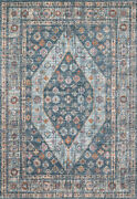 Loloi Clara 11and039-6 X 15and039 Area Rugs With Blue And Light Blue Clarcla-02bblbb6f0