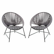Diamond Sofa Pablo 2-pack Accent Chairs In Black/grey Rope Pablochgrbl2pk