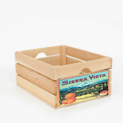 At Home On Main Vintage-style Small Wood Fruit Crate With Natural Ahomwfc-svn-s