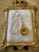 Antique 14k Gold Engraved And Rose Cut Diamond Pocket Watch Case Chain Dog Clip