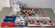 Huge Lot 110 Disney Infinity Game Figures Power Disc Cards Xbox 360 Portal Cases