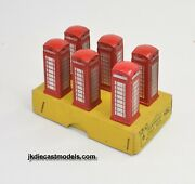 Dinky 12c Trade Set Of 6 Telephone Call Box Very Near Mint/boxed
