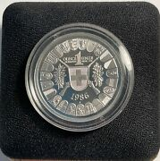 Swiss 1986 1oz. Platinum Shooting Taler 1851 Nice Coin In Capsule And Descrip