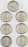 7 1968 Mexico Silver 25 Pesos Olympics Coin Lot - 72, .720 Old Silver Sharp