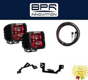 Rigid Radiance Pod Red And Fog Light Kit And Harness Fits 03-09 Ram 2500/3500
