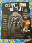 Halloween Prop Decoration Animated Creeper From The Grave Tombstone