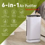 Secondhand 6-in-1 Air Purifier W/ Hepa Filter Uv Sanitizer And Ionizer For Home