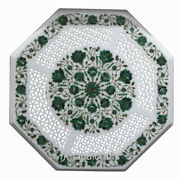 30 Inches Hand Crafted Patio Table Top Filigree Work Stone Coffee Table For Home