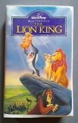 Vintage 1995 Walt Disneyand039s The Lion King Masterpiece Collection Vhs Tape 2977