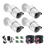 Wired 1080p White Outdoor Bullet Tvi Security Camera Compatible For Tvi Dvr 4-p