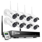 8-channel 1080p 1tb Nvr Security Camera System With 8 Wireless Bullet Cameras