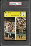 Rare Mickey Mantle Roger Maris Dual Autographed Card Psa/dna Mint