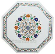36 Inches Exclusive Inlay Art Dining Table Top Marble Patio Table Home Assents