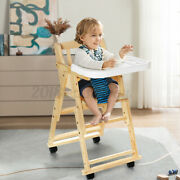 Baby High Chair Seat Adjustable Feeding Dining Booster Table Highchair For Kids