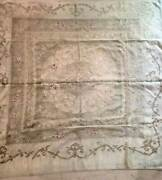 Antique Hand Made Ottoman Table Cloth All Silver Work Rare