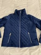 Andrew Marc New York Blue Size Xl Quilted Womens Jacket Giii