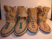 His And Her Pair Of Native American Moccasins 77