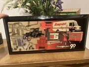 Rare Vintage Snap On Tools Wall Clock 90th Anniversary - New And Battery Operated