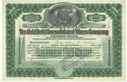 Goldfield Consolidated Mines Company. Stock Certificate. Nevada.