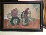 . Old Time Hanoi Orig Lacquer Painting Thanh Hoa Nguyen