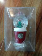 A Starbucks 2006 Holiday Snow - Globe Ornament To - Go Cup 236292