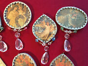 9 New Silvestri Handmade Stained Glass Victorian Christmas Ornaments 330 New