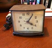 Vintage General Electric Alarm Clock W/ Lighted Dial Mid Century Modern Nice