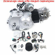 125cc Engine Motor 4-stroke Air-cooled Engine Motor With Pipe Kit For Atv Trx125