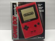 Nintendo Gameboy Pocket Red Brand New Very Nice Rare Factory Sealed Us Release