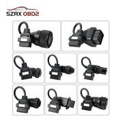 8pc Obd2 Cables Kit Adapter Set For Truck Diagnostic Scanner Iveco Scania Volvo