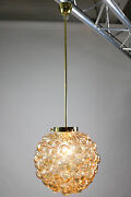 Limburg Amber Glass Ball Bubble Lamp Helena Tynell 1960and039s Mid Century Vintage