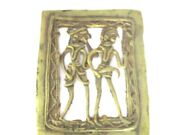 Brass Handmade Lady And Man Figure Trade Sign/store Display Garden /home Decor