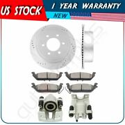 Rear Brake Rotors Calipers With Ceramic Pads For 2006 2007 2008 Lincoln Mark Lt
