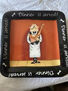 Certified Int Dinner Is Served By Tracy Flickinger 4 Dessert Square Plate