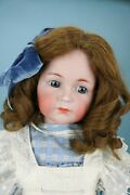 26 Mein Liebling Kr 117 And039emmaand039 German Bisque Antique Doll With Great Pinafore