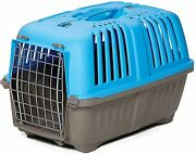 Small Pet Carrier Dog Cat Travel Crate Door Kennel Animal Cage Hard Side Sturdy