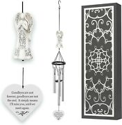 Memorial Wind Chimes With Celtic Angel And Heart - Goodbyes Are Not Forever