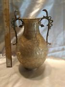 Antique Brass Cobra Vase From India Circa 1880s To 1900s 10.75 Tall
