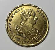 ¡¡ Very Rare Gold Medal Proclamation Carlos Iv In Huancavelica 1790 PerÚ