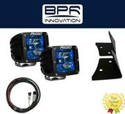 Rigid Radiance Pod Blue And A-pillar Mount Kit And Harness For 2007-2015 Jeep Jk