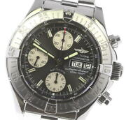 Breitling Super Ocean A13340 Chronograph Black Dial Automatic Menand039s Watch_617885