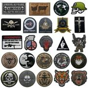 Tactical Skull Embroidered Patches Soldier Wolf Tiger Bear Pig Shark