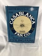 Vintage Porcelain Casablanca Fan Co Advertising Trade Sign Two Sided